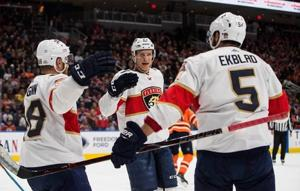 Trocheck scores three goals to lead Panthers in 7-5 win over Oilers