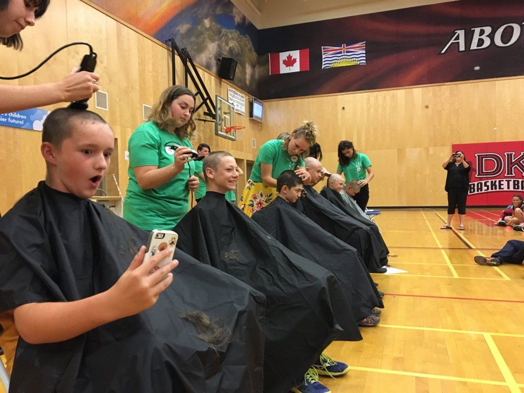 Head shave for charity