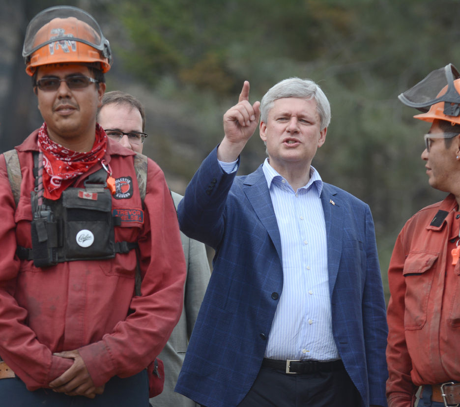 Prime Minister Harper answers a question