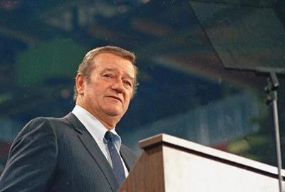 Democrats want John Wayne's name, statue taken off airport