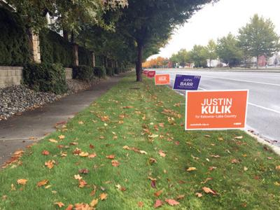 Parties lose dozens of campaign signs