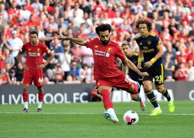 Salah double helps Liverpool to 3rd straight win in EPL