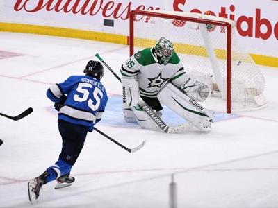 Scheifele scores 21 seconds into OT to lift Jets to 3-2 win over Stars