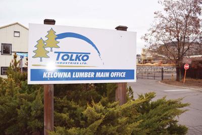 Tolko mill closing in Kelowna