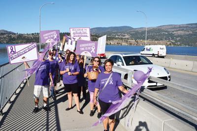 Purple Ribbon Campaign march