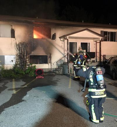 Housing complex fire