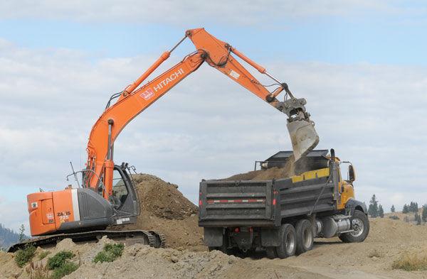Dirt mound going