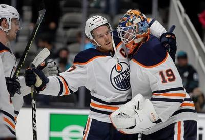 McDavid's 3 points lead Oilers past Sharks 5-2