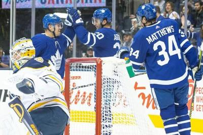 Nylander, Matthews dominate as Leafs down Sabres 3-0 for first pre-season win