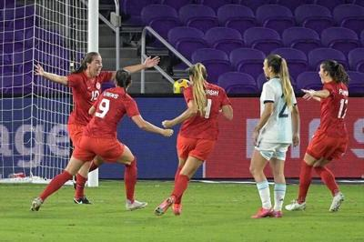 Canadian women score late in 1-0 win over Argentina at SheBelieves Cup in Orlando