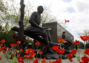 Statue marks centennial of John McCrae's famous poem, 'In Flanders Fields'
