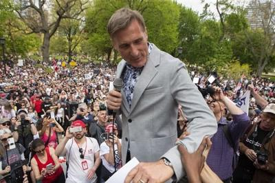 People's Party leader Maxime Bernier charged after anti-rules rallies in Manitoba