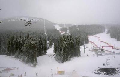 Downhill training cancelled at Lake Louise due to snow accumulation