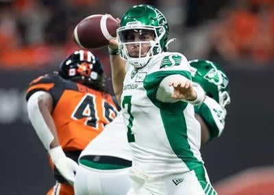 Dramatic last-minute TD gives Roughriders 31-24 victory over B.C. Lions