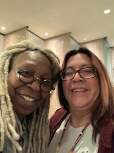 Whoopi Goldberg dons Manitoba artist's necklace honouring missing Indigenous women