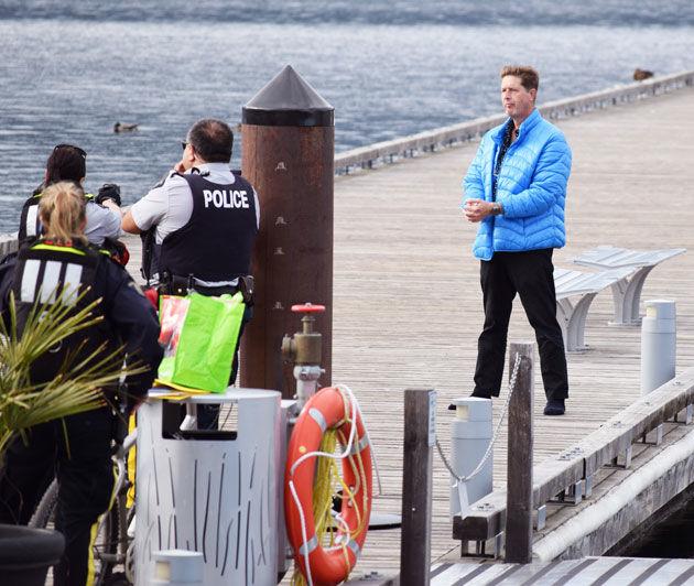 Man on dock