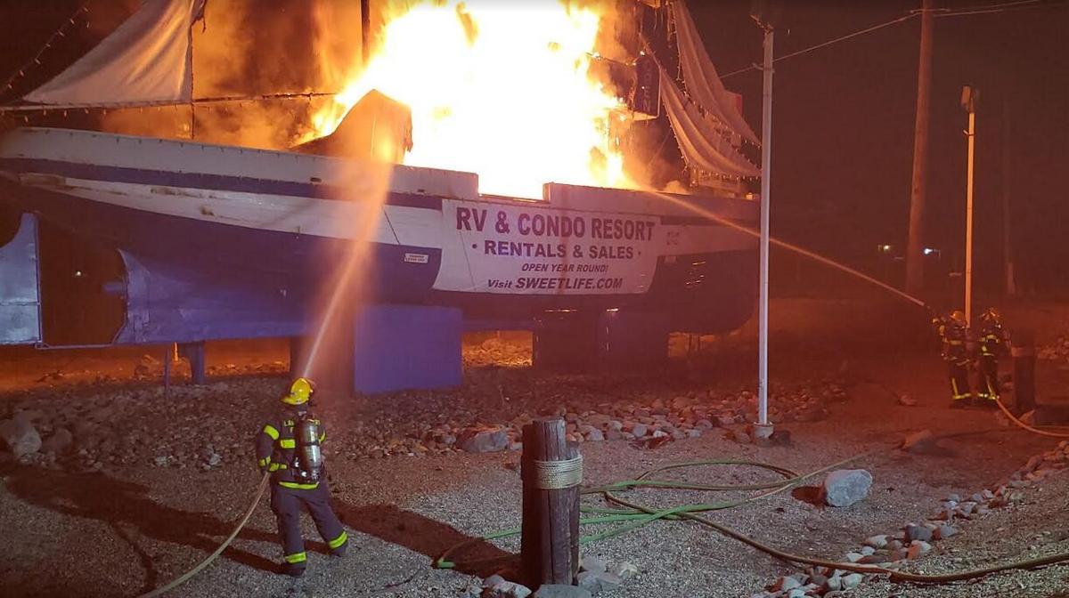 Holiday Park boat burns