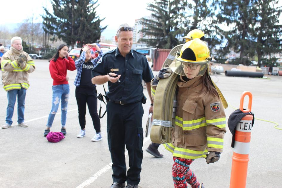 Students become firefighters for a day