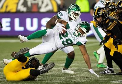 Williams' TD return sparks Ticats to opening victory over Roughriders