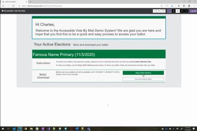 Provision made to allow blind to vote without assistance