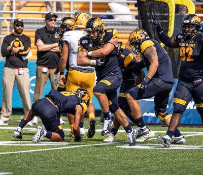 Football v Kennesaw fumble