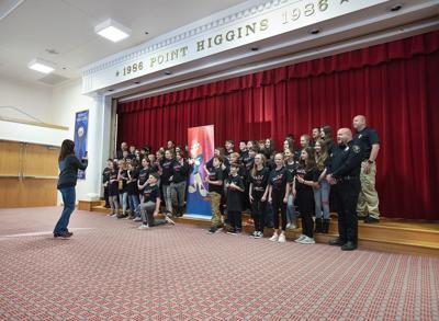 Point Higins 6th grade D.A.R.E. graduation ceremony