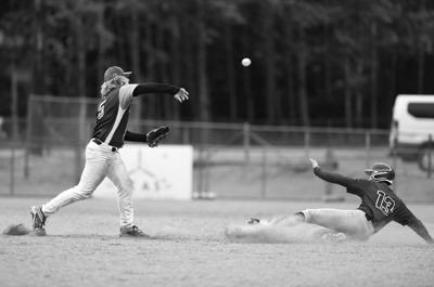Noah Lower (5) forces out Bubba Williams (13) at second base
