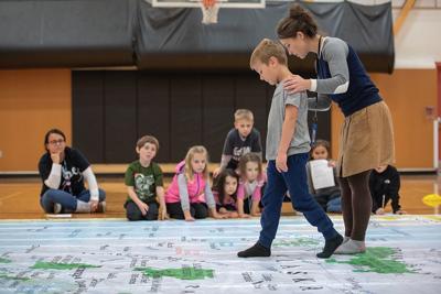 Elementary students walk across Alaska
