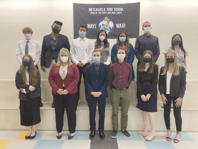 Members of the Ketchikan High School drama, debate and forensics team