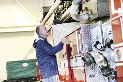 Sen. Dan Sullivan visits the Ketchikan Fire Department's Station 1