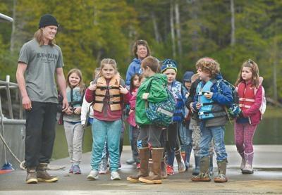 Pt. Higgins students visit Hump Island oyster farm