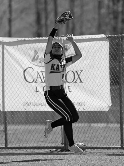 Nyah Edenshaw makes a catch