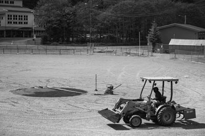 Pitching mound work