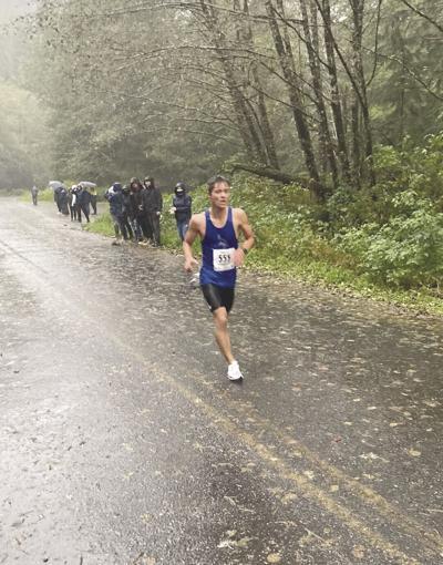 Uriah Lucas nears the finish line