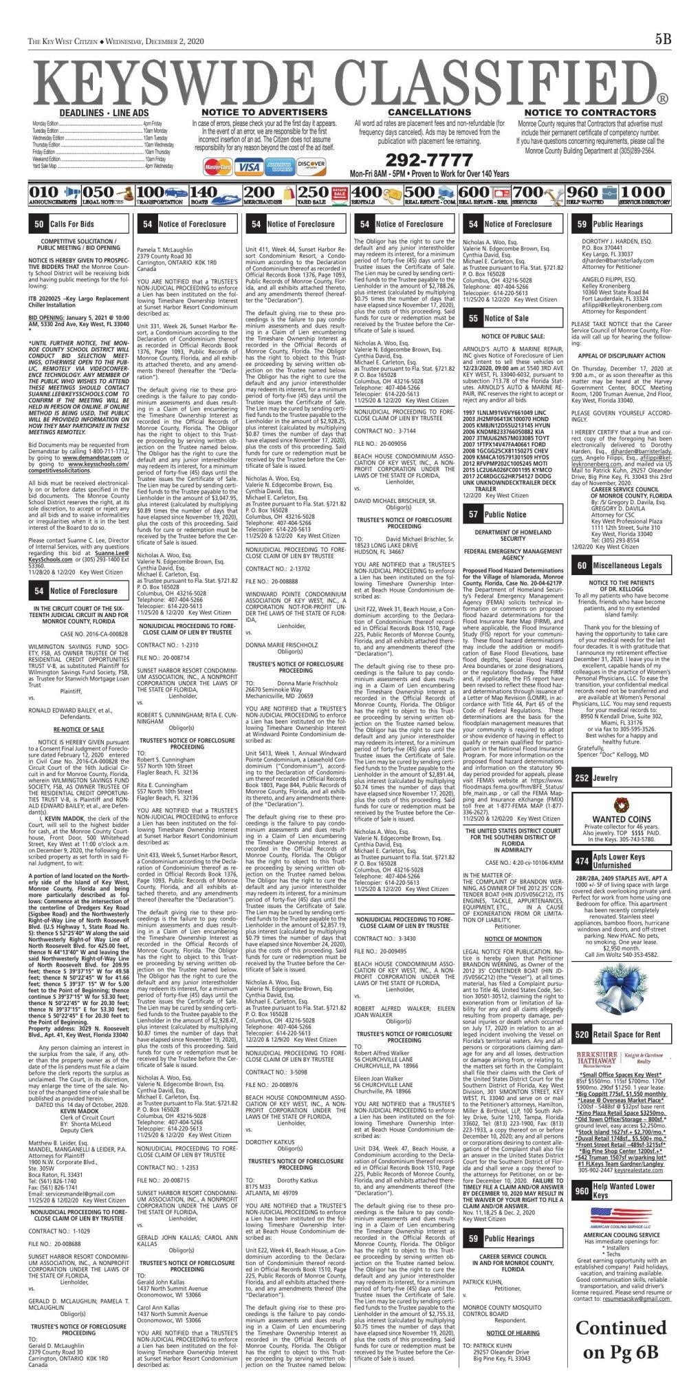 Classifieds/Legal - 2020.20.02