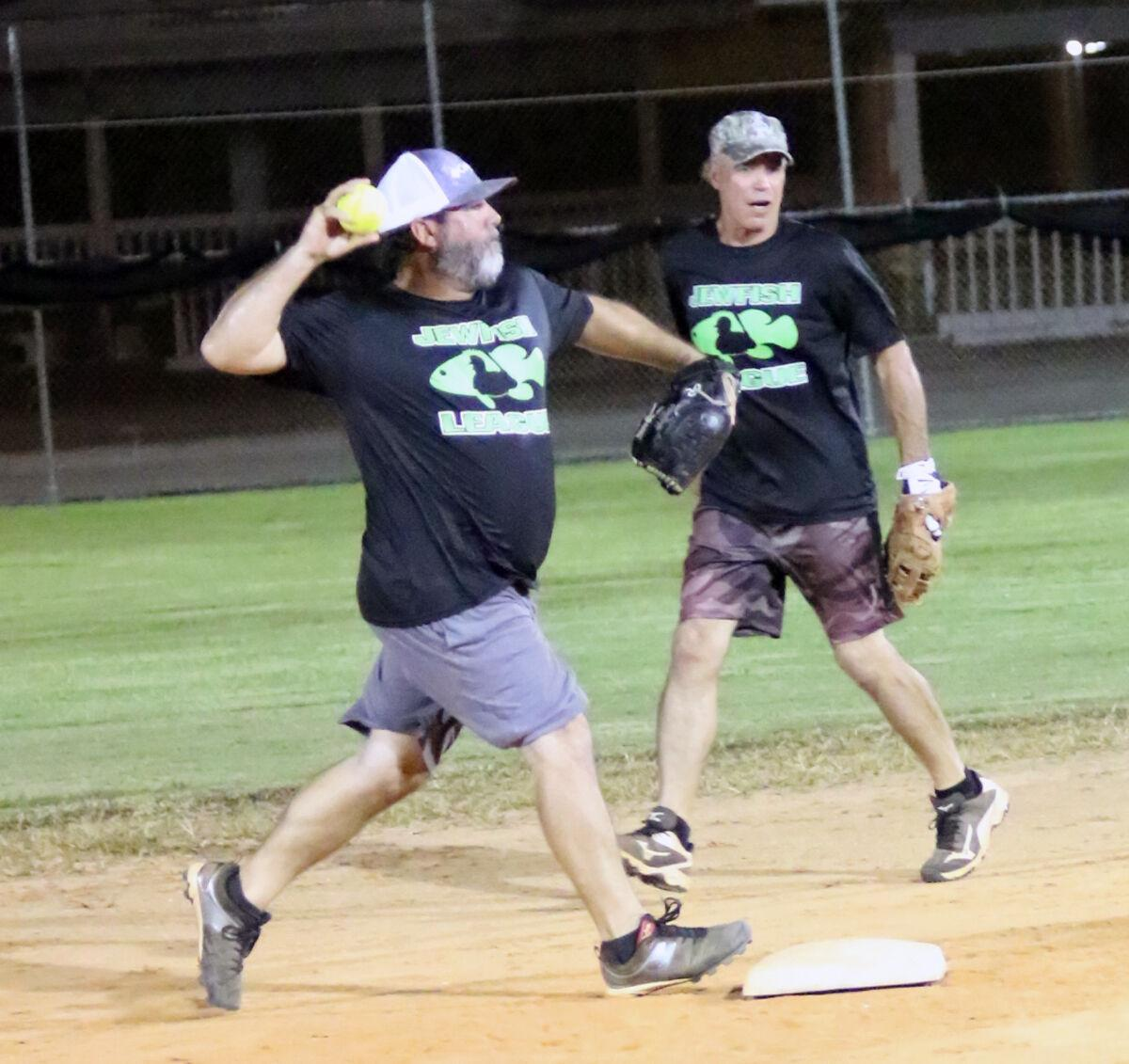 Men's Over-37 softball Hall tags second