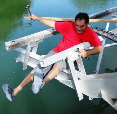 C.J. refurbishing boat lift bulks