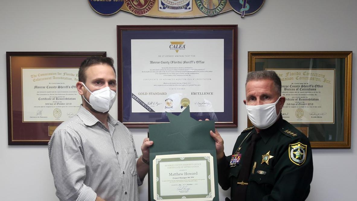 Sheriff honors county employee