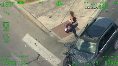 WATCH: Texas mom leads police on wild high-speed chase with