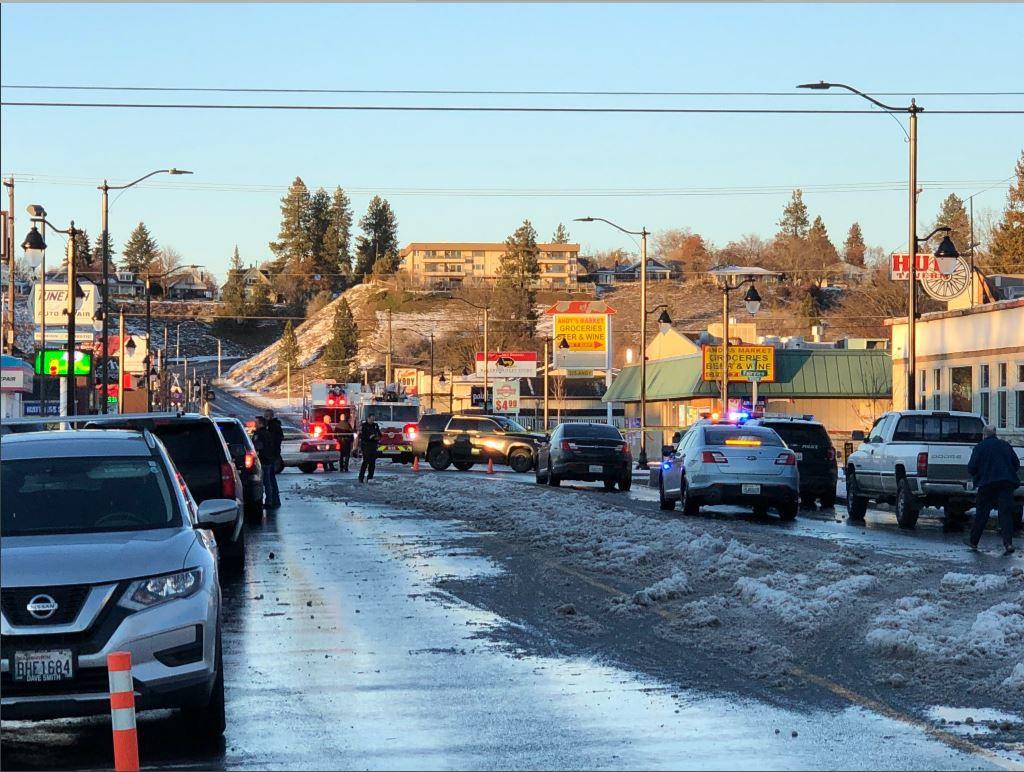 Spokane Police on the scene of an officer-involved shooting