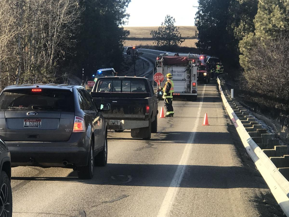 Couple injured after rollover crash on Palouse Highway