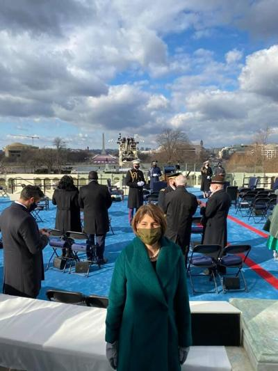Rep. Cathy McMorris-Rodgers attends President Biden's inauguration