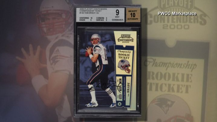 Tom Brady Rookie Trading Card Sells For Record 400100