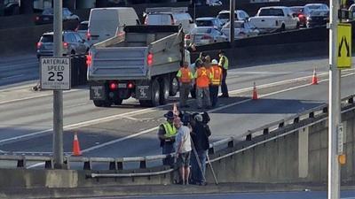 Pedestrian killed by dump truck on Interstate 5 in Seattle