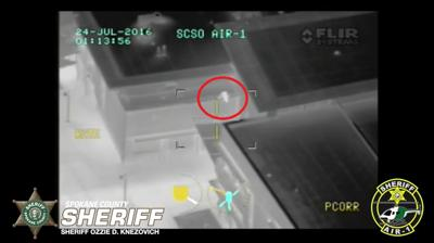 Air 1 Helicopter helps arrest two minors breaking into University High School