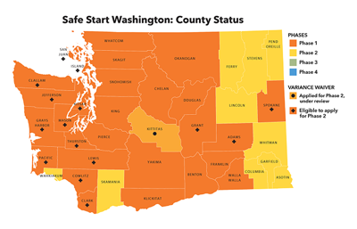 Washington Reopening County Status 5/21/2020