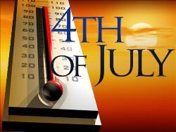 Hot spots approaching 100 degrees for holiday weekend