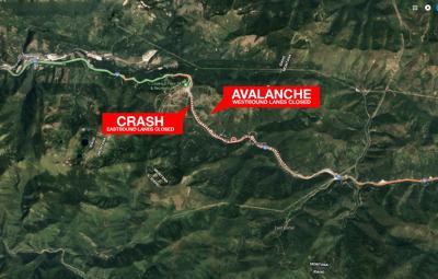 I-90 Avalanche Map