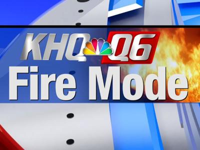 Wind-driven fire threatening structures near I-90 in Grant County