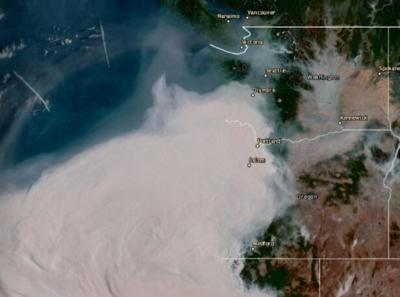 IMAGE: Smoke from Oregon and California fires making way to Spokane, will impact air quality